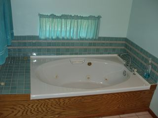 Angel Fire house photo - Jetted tub in master bathroom