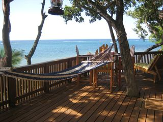 Roatan house photo - Time to rest and relax in the hammock with the sea breezes wafting by