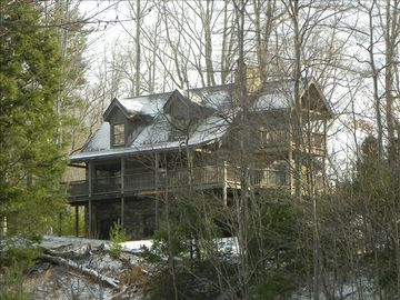 Boone cabin rental - 2 bedroom Hemlock Point cabin in Leatherwood Mountains subdivision.