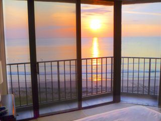 Hutchinson Island condo photo - Yes, this is sunrise from your pillow you can even see turtle tracks in the sand