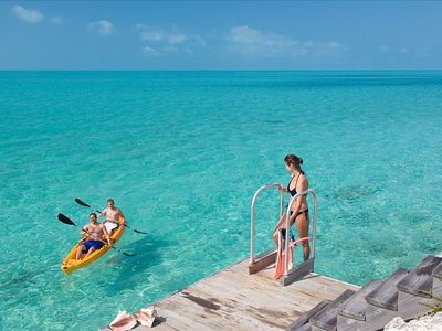 Access into the ocean via the swim platform. Kayak available for guests