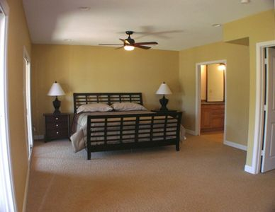 Master Bedroom with King-Size Bed with Pillow Top Mattress