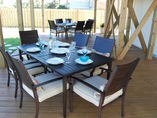 St. Augustine Beach house photo - HUGE OceanFront Dune Deck, great for cookouts, games and socializing!