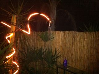 Winter Haven house photo - Outdoor shower at night