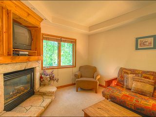 Breckenridge condo photo - Cozy Living Area with Gas Fireplace
