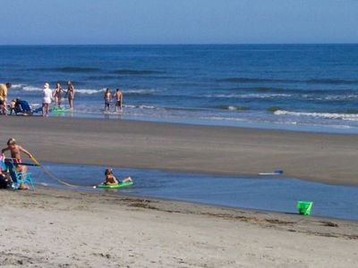 Our beach is huge even at mid- tide. No erosion problems here.