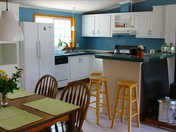Keene cottage rental - Dining Room and Kitchen