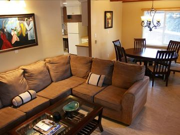 Innsbruck Meadows house rental - Cozy living room with sleeper sofa connected to dining room completely remodeled