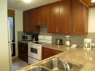 Remodeled kitchen with all new cabinets, granite counter tops and new appliances
