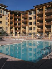 The Canyons condo photo - SCENIC OUTDOOR HEATED POOL AND HOT TUB. ALSO HOT TUB ON ROOF PATIO DECK!!