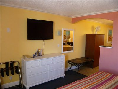 "Clearwater Beach condo rental - 40"" Flat Screen HDTV and huge dresser. New carpet and lots of room for storage."