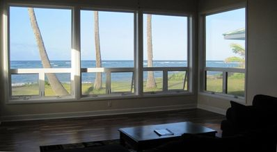 View of ocean from the living room
