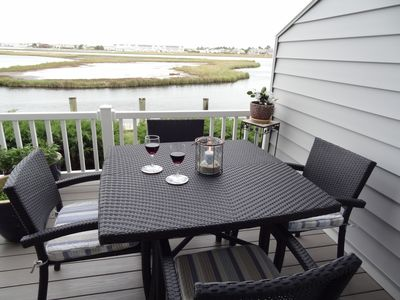 Enjoy water views and wildlife while sipping cocktails on your deck
