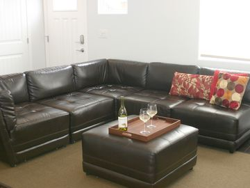 Large sectional in living room.