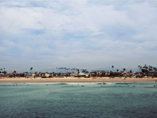 Seal Beach apartment photo - View of the beach from on the pier
