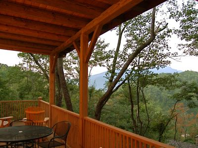 Take in views from the upper deck at the breakfast table or in a glider rocker.