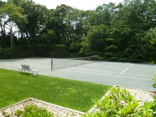 Westhampton house photo - har-tru tennis court