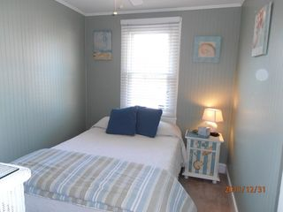 Cape May house photo - Bedroom has double bed and flat screen TV
