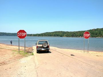 open waters public boat launch 1 mile from property