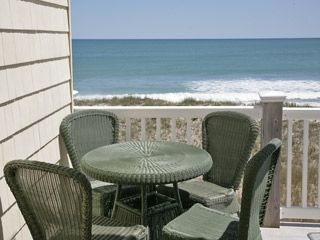 Surf City townhome photo - Bistro set on upper deck