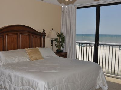 The guest bedroom is also gulf front and has a king-size bed!