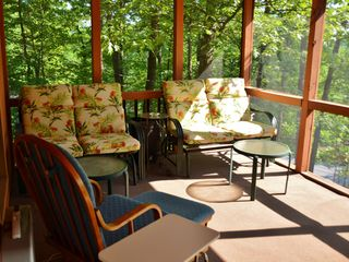 Bushkill house photo - Porch with Beautiful Surroundings.