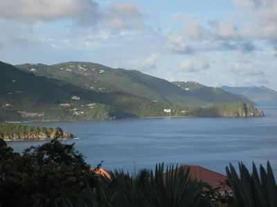 View of Tortola's north coast later in the day