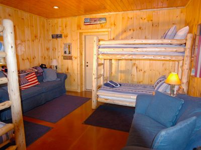 2 Sets of Bunk Beds with Sleeper Sofa and Full Sofa