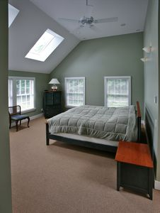 Master Bedroom with Skylights and Mountain Views