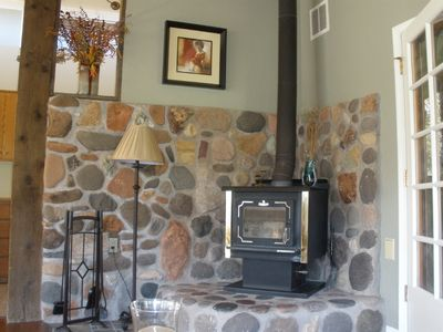 Sedona house rental - Woodburning stove - great for cold winter nights
