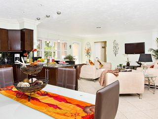 Fort Lauderdale house photo - Kitchen area with layout of living space. Up the hall to the two bedrooms.