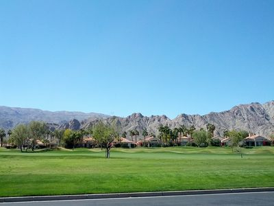 Front View overlooking PGA WEST Nicklaus Golf Course - A Golfer's Dream!