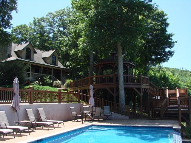 Murphy vacation rental vrbo 680739 2 br smoky for Smoky mountain cabin rental with private pool
