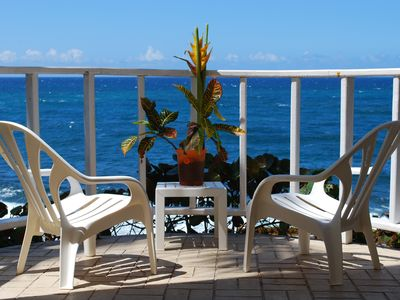 Sit and enjoy your private uninterrupted ocean view