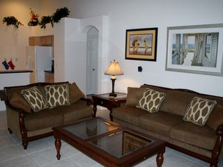 Orange Tree villa photo - Family Room with 50inch HDTV