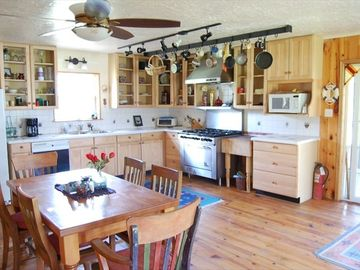 Large open kitchen, walk out to screened in porch