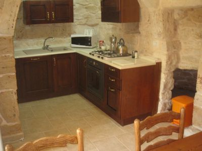 Fully equiped trullo kitchen