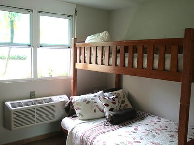 Second Bedroom has bunk beds with Full in bottom and twin on top