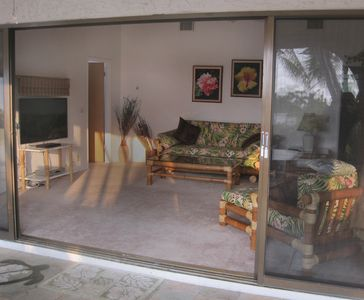 Large sliding doors throughout the house allow the gentle breeze to come in