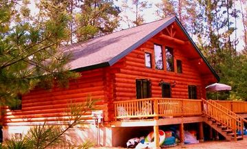Buckhorn Lake cabin in the Summer