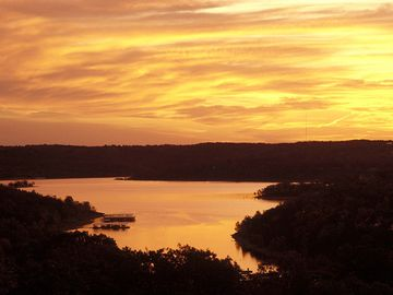A sunset on Table Rock Lake is one you'll never forget!