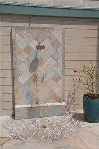 Cool off in the natural stone shower
