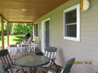 Munising cottage photo - A gas grill and charcoal grill are provided.