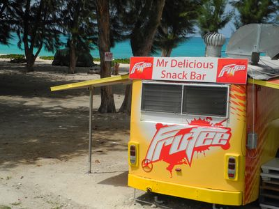 Mr Delicious at Miami Beach (Enterprise Beach) offers snacks and cold drinks.
