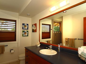 Upstairs Turtle Room bathroom with large walk-in shower.