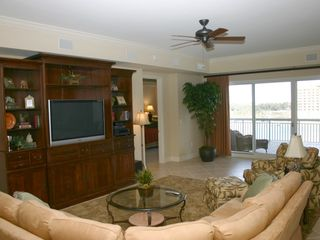 Harbor Landing Destin condo photo - Harbor Landing 203A - Living Area with Flat Screen