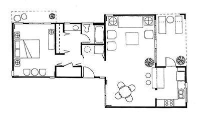 Floor Plan. **The bathroom has been renovated from this orignal layout