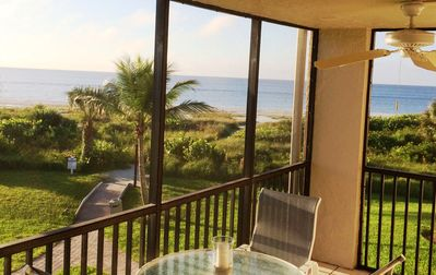 Sweeping views of the beach and Gulf surround you!