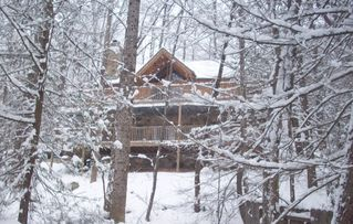 Gatlinburg chalet photo - Beautiful Winter in the Mountains! Our chalet is truly one of a kind!