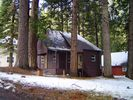 Sideview from street - Pinecrest cabin vacation rental photo